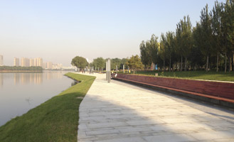Hun River Park is open to public, Shenyang