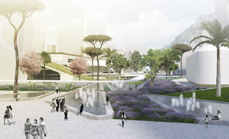 Winning entry in the competition for the Yongjia World Trade Centre in Wenzhou